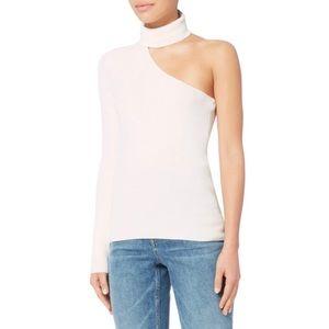 Intermix White textured one shoulder sweater